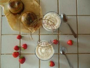 Crème d'ange coco et compotée de fraises (3)