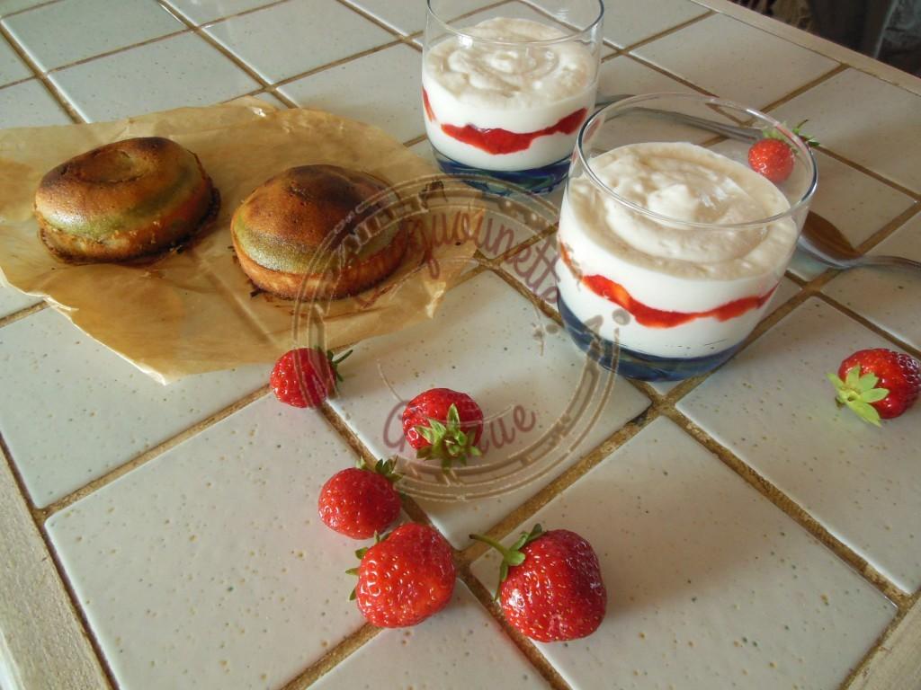 Crème d'ange coco et compotée de fraises (2)