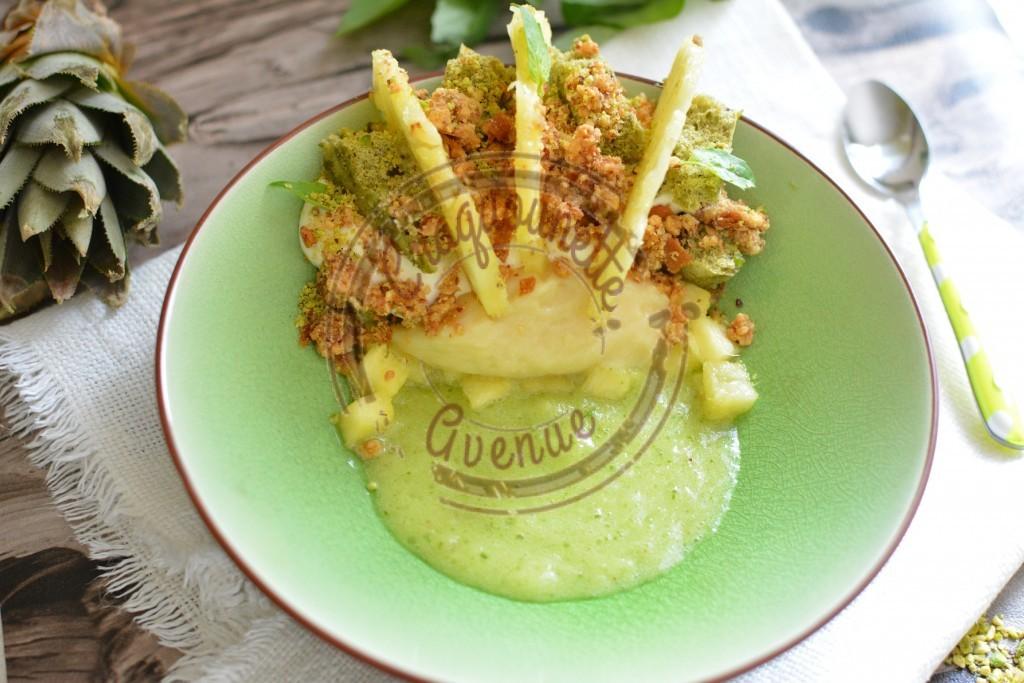 Assiette ananas basilic pistache revisité(4)