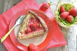Ma tarte rhubarbe et fraises (1)