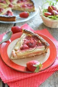 Ma tarte rhubarbe et fraises