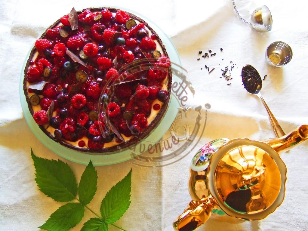 Tarte myrtilles framboises thé noir 2
