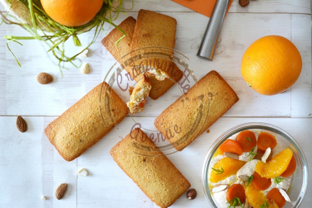 Financier carottes, oranges et baies roses P.Hermé 1.04.16 (4)