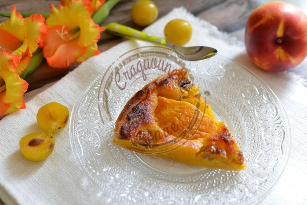 Ma tarte pêches safran et mirabelles 29.08 (2)