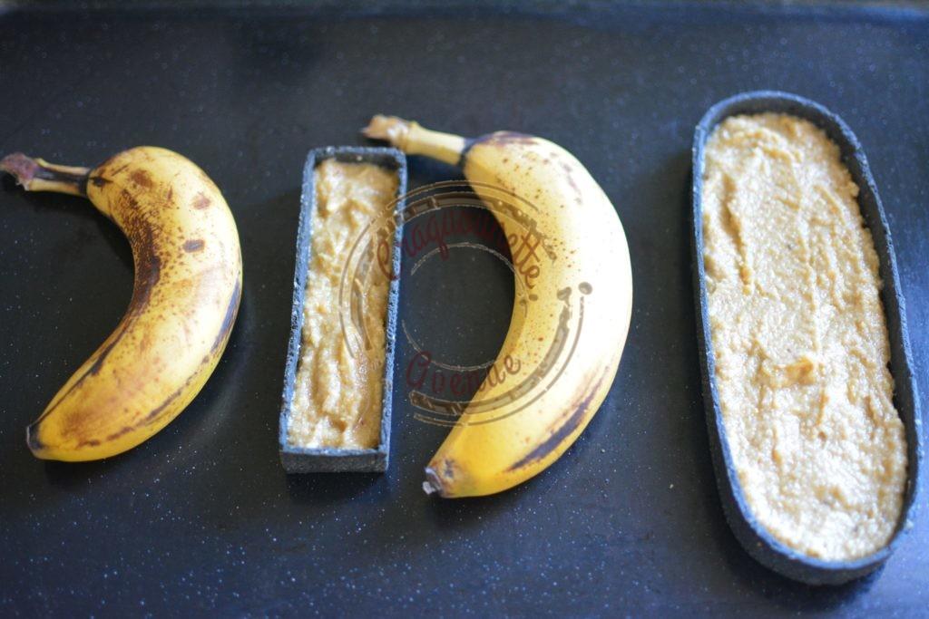 Tarte soufflée à la banane avant cuisson
