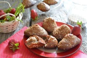 Madeleines fraises et sésame 1