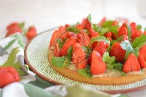 tarte fraise roquette